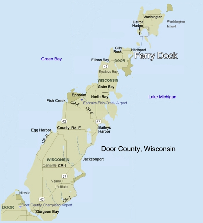 Door County Town Amp Village Map Images Frompo